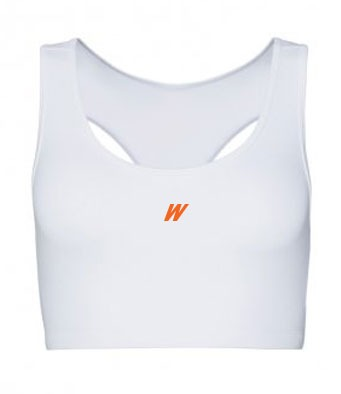 WolfeKit Repetition Ladies Crop Top White