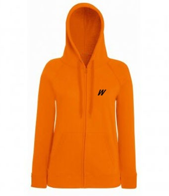 WolfeKit Press Zip Up Hoodie Orange