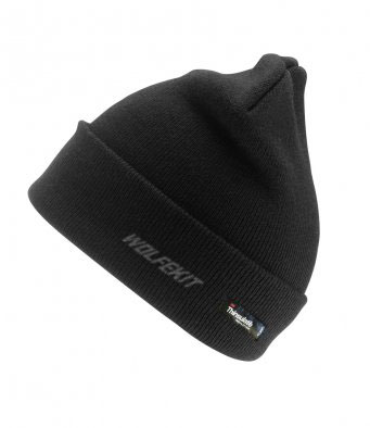 WolfeKit Shift Black Woolly Ski Hat with Thinsulate™ Insulation